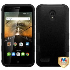 Alcatel One Touch Conquest Natural Black/Black Hybrid Case