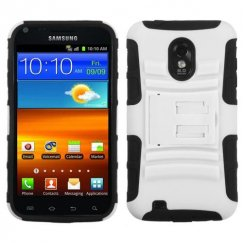 Samsung Epic 4G Touch (Galaxy S2) White/Black Advanced Armor Stand Case