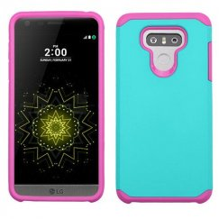 LG G6 Teal Green/Hot Pink Astronoot Case