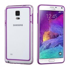 Samsung Galaxy Note 4 Purple/Transparent Clear Case