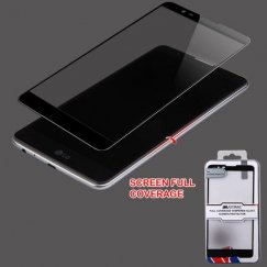 LG G Stylus 2 Full Coverage Tempered Glass Screen Protector/Black