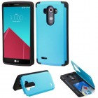 LG G4 Tropical Teal Inverse Advanced Armor Stand Case with Card Wallet