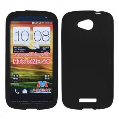 HTC One V Solid Skin Cover - Black