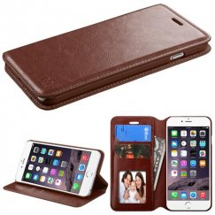 Apple iPhone 6/6s Plus Brown Wallet with Tray