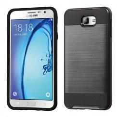 Samsung Galaxy On7 Black/Black Brushed Hybrid Case