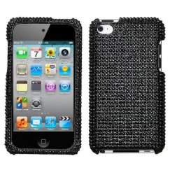 Apple iPod Touch (4th Generation) Black Diamante Case