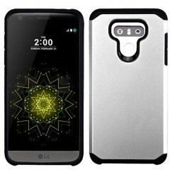 LG G6 Silver/Black Astronoot Phone Protector Cover