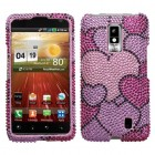 LG Spectrum Cloudy Hearts Diamante Protector Cover