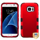 Samsung Galaxy S7 Titanium Red/Black Hybrid Case