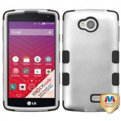 LG Tribute Rubberized Gray/Black Hybrid Case