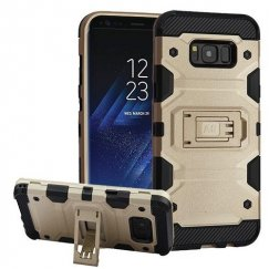 Samsung Galaxy S8 Gold/Black Storm Tank Hybrid Case Military Grade