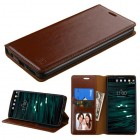 LG V10 Brown Wallet with Tray