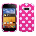 ZTE Imperial White Polka Dots/Hot Pink Case