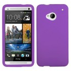 HTC One M7 Solid Skin Cover - Electric Purple