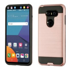 LG V30 Rose Gold/Black Brushed Hybrid Case