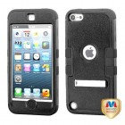 Apple iPod Touch (5th Generation) Natural Black/Black Hybrid Case with Stand