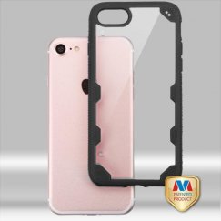 Apple iPhone 7 Transparent Clear/Black FreeStyle Challenger Hybrid Protector Cover