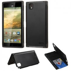 ZTE Warp Elite Black Inverse Advanced Armor Stand Case