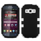Samsung Galaxy Ring Rubberized Black/Solid White Hybrid Case