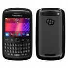Blackberry 9360 Curve Transparent Clear/Solid Black Gummy Cover