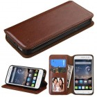 Alcatel One Touch Pop Astro Brown Wallet(with Tray)