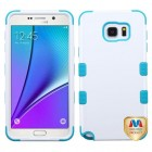 Samsung Galaxy Note 5 Ivory White/Tropical Teal Hybrid Phone Protector Cover