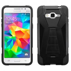 Samsung Galaxy Grand Prime Black Inverse Advanced Armor Stand Case