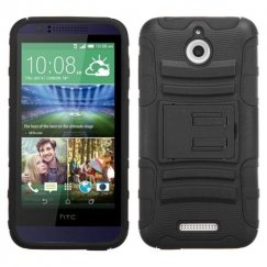HTC Desire 510 Black/Black Advanced Armor Stand Case