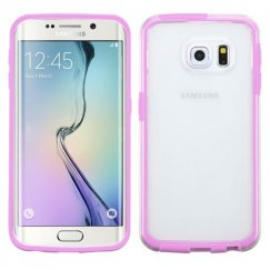 Samsung Galaxy S6 Edge Transparent/Purple Candy Frame Case