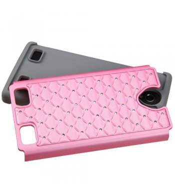 ZTE ZMAX 2 Pearl Pink/Gray FullStar Protector Cover