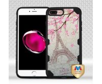 Apple iPhone 7 Plus Paris Eiffel Tower/Black FreeStyle Challenger Hybrid Protector Cover