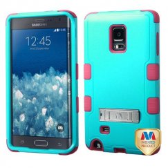 Samsung Galaxy Note Edge Natural Teal Green/Electric Pink Hybrid Case with Stand