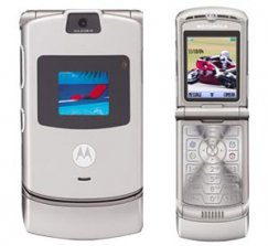 Motorola RAZR V3 Flip Phone AT&T Wireless - Silver