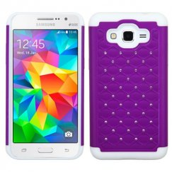 Samsung Galaxy Grand Prime Purple/Solid White FullStar Case