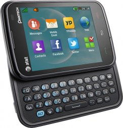 Pantech Renue P6030 QWERTY Texting Phone - ATT Wireless - Black