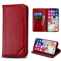 Apple iPhone X Red Genuine Leather Wallet
