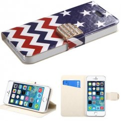 Apple iPhone 5/5s Stars-wave Wallet with Diamante Belt