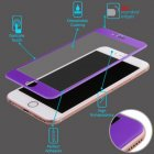 Apple iPhone 6/6s 3D Curved Edge Titanium Alloy Tempered Glass Screen Protector/Purple
