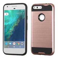 Google Pixel XL Rose Gold/Black Brushed Hybrid Case