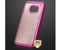 Hot Pink/Rose Gold Sheer Glitter Electroplated Premium Candy Skin Cover