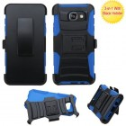 Samsung Galaxy A5 Black/ Blue Advanced Armor Stand Case with Black Holster