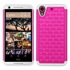 HTC Desire 555 Hot Pink/Solid White FullStar Case