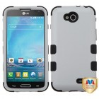 LG Optimus L90 Rubberized Gray/Black Hybrid Case