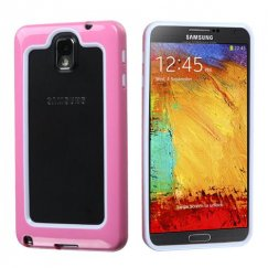 Samsung Galaxy Note 3 White/Solid Pink Case
