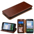 Alcatel Stellar / Tru 5065 Brown Wallet with Tray