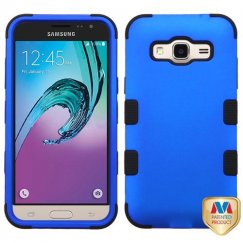 Samsung Galaxy J3 Titanium Dark Blue/Black Hybrid Case