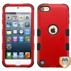 Apple iPod Touch (6th Generation) Natural Red/Black Hybrid Phone Protector Cover