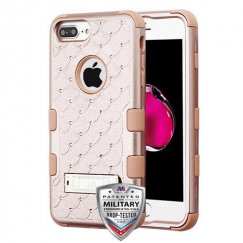 Rose Gold/Rose Gold FullStar Hybrid Protector Cover (with Stand)[Military-Grade Certified]