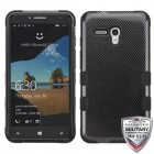 Alcatel One Touch Fierce XL Carbon Fiber/Black Hybrid Phone Protector Cover
