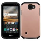 LG K3 Rose Gold/Black Astronoot Phone Protector Cover